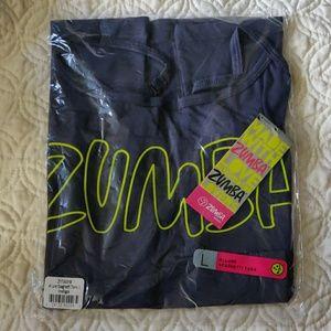 🌟3/$25 Zumba spaghetti strap navy tank top NWT